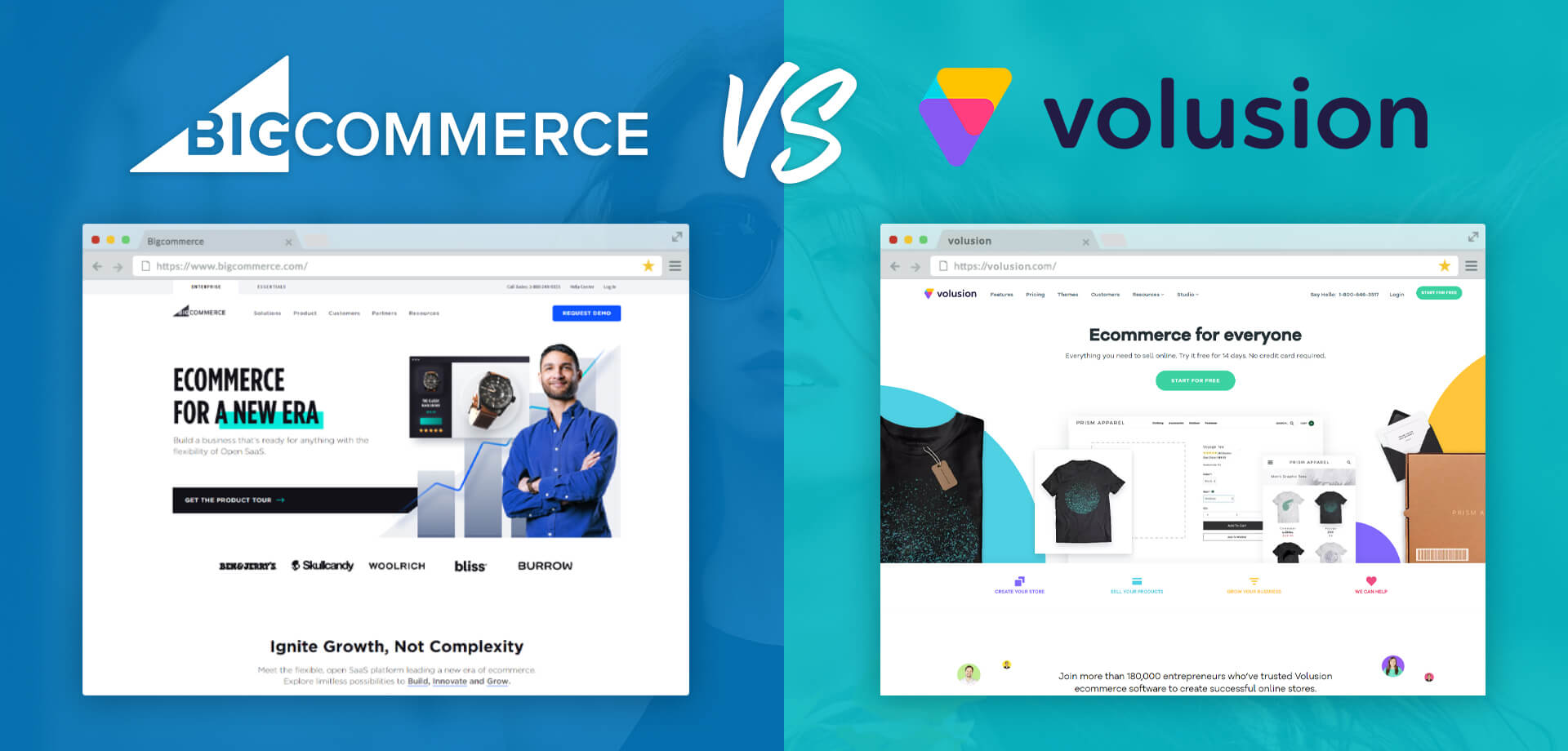 BigCommerce vs Volusion