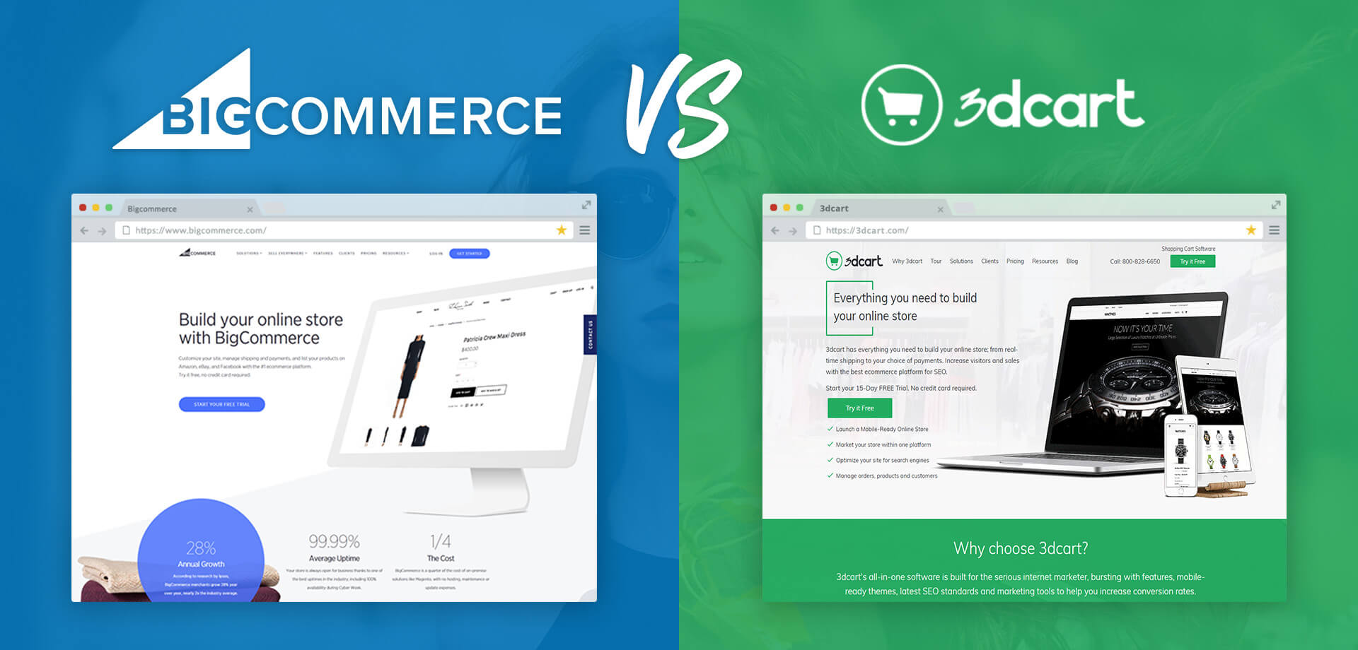 Bigcommerce Vs 3dcart Whats Best For Your Ecommerce Store