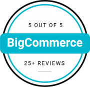 BigCommerce rating with 25+ reviews