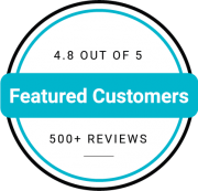 featured customers rating with 500+ reviews
